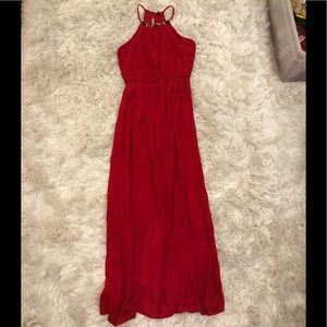Red Maxi dress with slit
